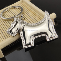 free shipping Wholesale stock zinc alloy cute Prosperous dog Keychain for promotional