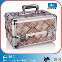 aluminum makeup vanity case with compartments suitcase