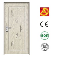 fashion entry door wood,elegant white flush door