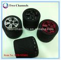 neumático altavoz inalámbrico bluetooth manos libres de teléfono celular portátil de coches de radio de la tarjeta de la