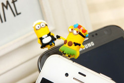 Despicable Me Minion Charm Cell Phone Anti Dust Plug For Android