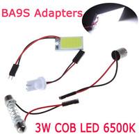 3W 12V 18 COB Car LED Light Bulb Dome Festoon Interior Reading LighT T10 BA9S Adapters Auto Super Bright White Light Source