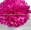 """tissue paper pompoms Hot Pink 12"""" inch Wedding Paper Balls flowers for wedding,baby shower, Birthday 32 Colors in 14 sizes"""