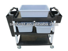 3 Shelf Service Cart cleaning trolley T613
