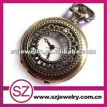 Hot sell openwork antique style japan movt quartz pocket watch