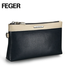Factory Wholesale PU Leather Men's Wallet Portable Men's Clutch Bag