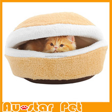 Wholesales Super Soft Hamburger Cat Sleeping Bed / Luxury Cat Beds