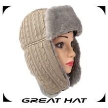 winter unisex earflap hat crochet pattern plain warm hat