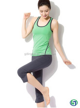 Fashion slim young style women`s yoga sets gym wearing