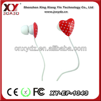 3.5mm plug colored earphone retract hot sell