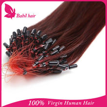 6A Grade Fashion Keratin Fusion Loop Tip Hair 100% Cheap Indian Remy Micro Loop Ring Human Hair Extension 1g