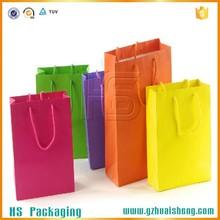 Custom large brown kraft paper bags / package bags / shopping bags for wholesale