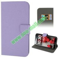 Horizontal Texture Flip Leather Case for LG Optimus G Pro F240 with Credit Card Slots