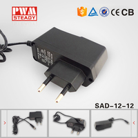 dc 12v 1a power supply/ transformer /adapter led
