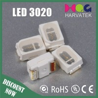 Free samples green 3020 smd led specifications attached