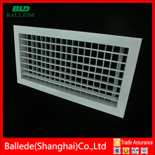 aluminum supply air grille air louver in hvac system