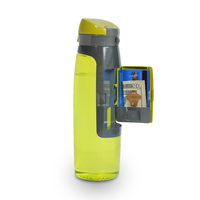 2015 hot new sports infusion plastic protein shake joyshaker bottle with a card storage