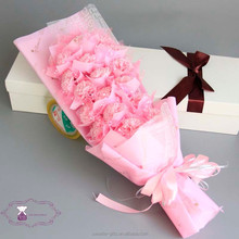 2015 new mother's day gift carnation soap flower bouquet