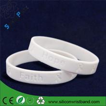 High quality faith hope silicone wristband, Promotional silicone wristband, debossed silicone wristband