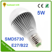 Promotion CE ROHS SMD5730 5w led bulb die casting aluminum heat sink