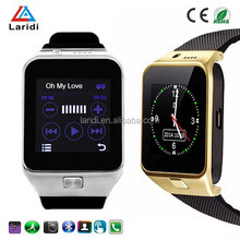 2015 hot selling bluetooth moto 360 GV09 smart watch wristwatch with SIM card for android and ios smartphone