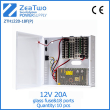 New products cctv power box 18 channel 240w 12v 20a modular power supply