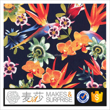 P22D2907 active printing cotton sateen with sp fabric for coat /100% Cotton