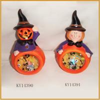 witch shape ceramic halloween pumpkin decoration for sale