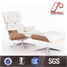 replica leisure chair, walnut wood chair replica, leisure lounge chair with ottoman DU-388C