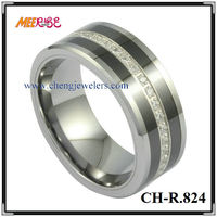 High Quality Comfort Fit Tungsten Diamond Engagement Ring