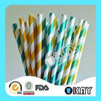 Top Level New Products Paper Straws Aqua Check