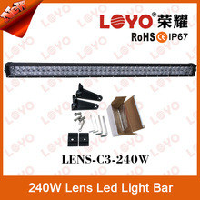 High Power 40inch 240w waterproof led light bar for offroad cars, auto led light bars for jeep trucks 4wd