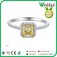 new model fashion cheap diamond stainless steel wedding ring