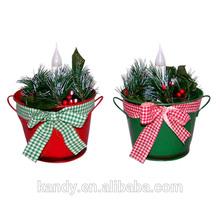 pequeño cubo de palma de navidad decoración del árbol