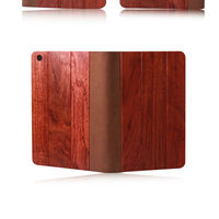 For ipad mini natural genuine wood case,factory price flexible practical mobile phone case with hand
