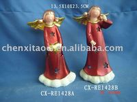 polyresin christmas candle holders decoration -Ceramic Christmas Items
