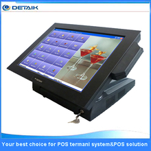 Fanless intel D525 CPU 15 Inch Touch POS Terminal System