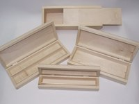 Distressed Hot Selling Children's Wooden Pencil Box / Case Wholesale