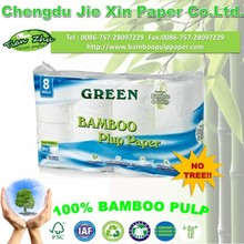 high quality bamboo toilet paper bathroon tissue 3 ply 8 rolls/pack