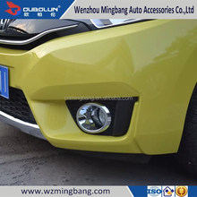 for 2014 Hond-a FIT/JAZZ Exterior Accessories High quality ABS chrome Car front fog light cover