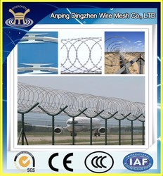 Airport Protective PVC Coated Galvanized Metal Fence Panels Price