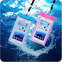Cell Phone Waterproof Pouch for Swimming IPX8 Luminous Waterproof Bag Case Dry Cover Case for iPhone 6S Plus Note 3 Note 4