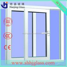 haojing supply 12mm aluminium frame sliding glass window