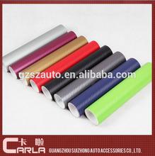 1.52x30m cambio automático de color de fibra de carbono con pegamento de la burbuja de aire libre