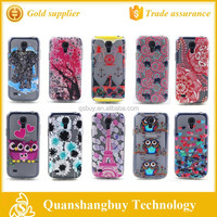 Cheap cell phone cover drawing relief vintage design back case for Samsung Galaxy S4 mini i9190 mobile cover