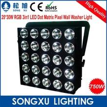 25x30w matrix dot wall washers led rgb colour changing wall lights for nightclub satge decoration
