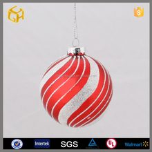Hot sell red white glass ball exporter handicraft product