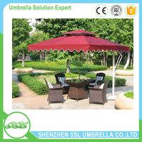 China fix side custom shape wholesale outdoor garden umbrella