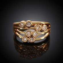 wide ring gold plated rhinestone 2015 new trend ring design