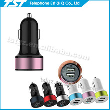 TST high quality car usb charger adapter